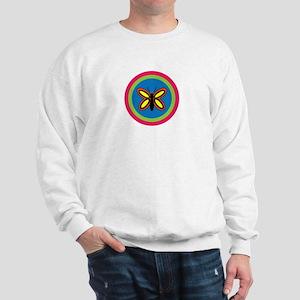 CALLA BUTTERFLY W/BIO ON BACK Sweatshirt