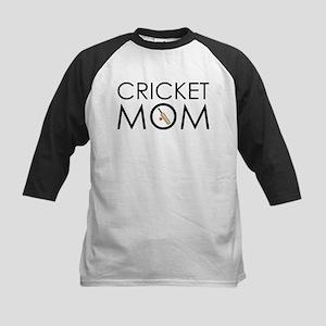 Cricket Mom Kids Baseball Jersey