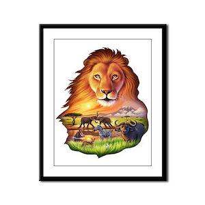 Lion King Framed Panel Print