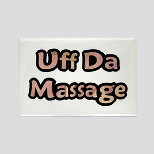 Uff Da Massage Rectangle Magnet