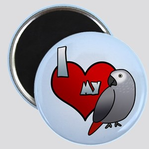 Love Congo African Grey Magnet