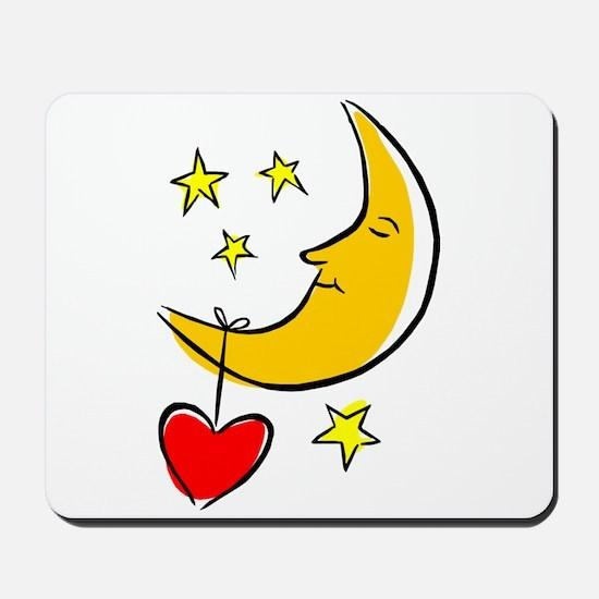 MOON, STARS & A HEART Mousepad