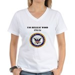 USS BELLEAU WOOD Women's V-Neck T-Shirt