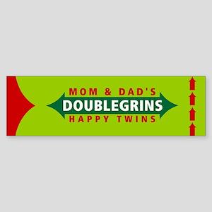 Doublegrins Happy Twins Bumper Sticker