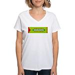 Doublegrins Happy Twins Women's V-Neck T-Shirt