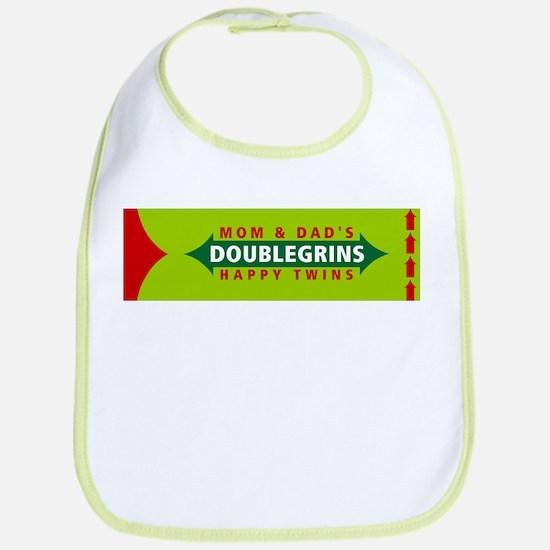 Doublegrins Happy Twins Bib