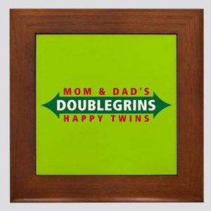 Doublegrins Happy Twins Framed Tile