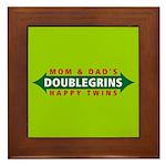 Doublegrins Happy Twins Framed Tile