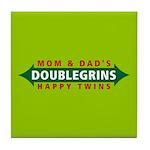 Doublegrins Happy Twins Tile Coaster