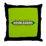 Doublegrins Happy Twins Throw Pillow