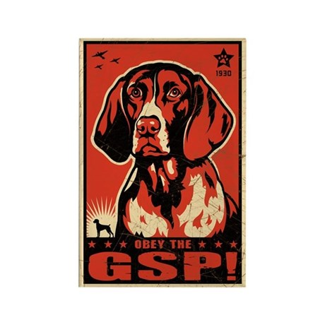 Obey the GSP! Retro Dog Magnets (10 pack)