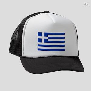 Greece Flag Kids Trucker hat