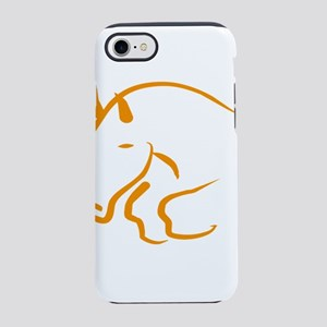 jumping horse iPhone 8/7 Tough Case