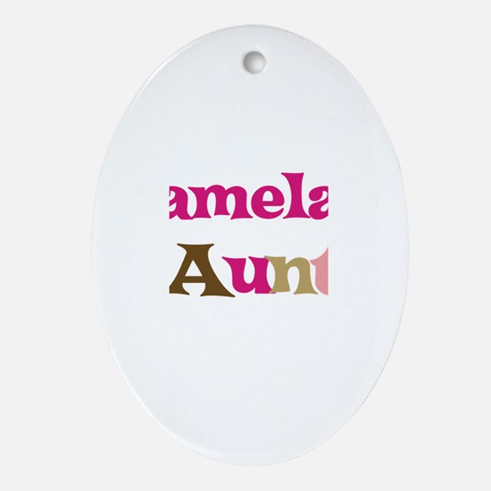 Pamela's Aunt Oval Ornament