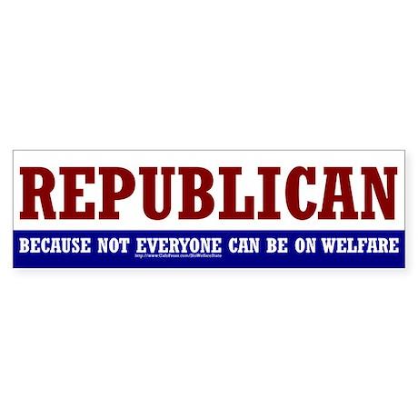REPUBLICAN - Bumper Sticker