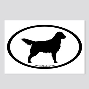 Golden Retriever Oval Postcards (Package of 8)