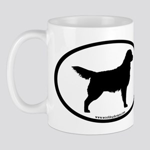 Golden Retriever Oval Mug
