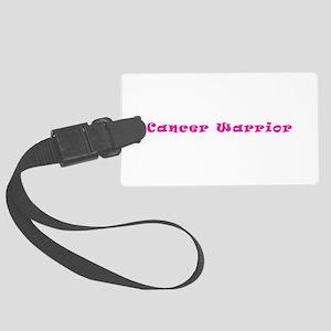 Pink Breast Cancer Warrior 4Mega Large Luggage Tag