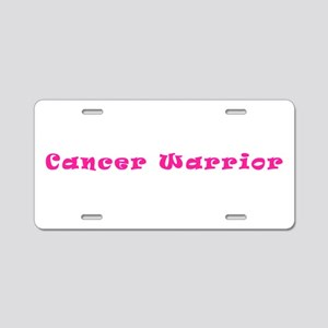 Pink Breast Cancer Warrior Aluminum License Plate