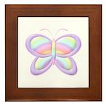 Butterfly Rainbow Framed Tile