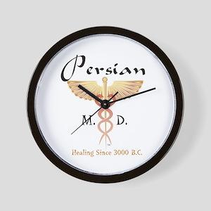 Red Persian M.D. Wall Clock