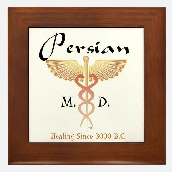 Red Persian M.D. Framed Tile