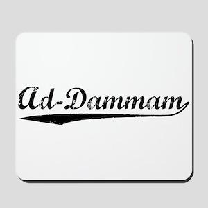 Vintage Ad-Dammam (Black) Mousepad