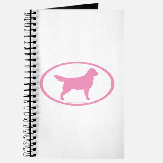 Pink Golden Retriever Oval Journal