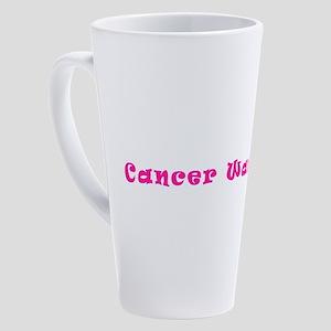 Pink Breast Cancer Warrior 4Megan 17 oz Latte Mug