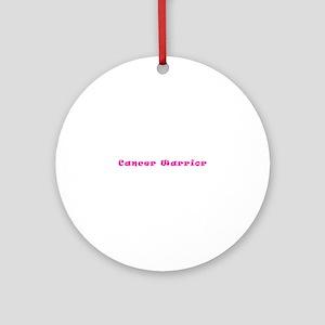 Pink Breast Cancer Warrior 4Megan Round Ornament