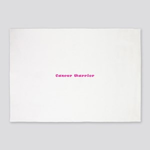 Pink Breast Cancer Warrior 4Megan 5'x7'Area Rug