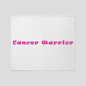 Pink Breast Cancer Warrior 4Megan Throw Blanket