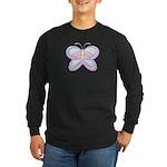 Butterfly Rainbow Long Sleeve Dark T-Shirt