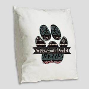 Newfoundland Burlap Throw Pillow