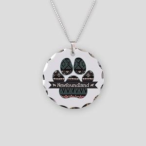 Newfoundland Necklace Circle Charm