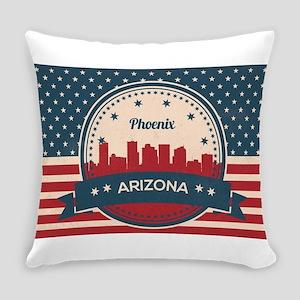 Retro Style Phoenix Arizona Skylin Everyday Pillow