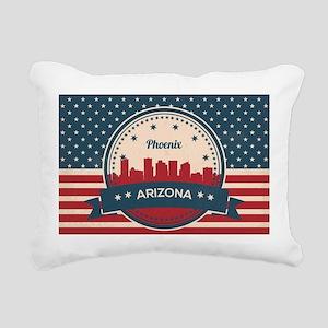 Retro Style Phoenix Ariz Rectangular Canvas Pillow