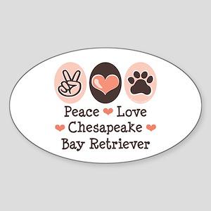 Peace Love Chessie Oval Sticker