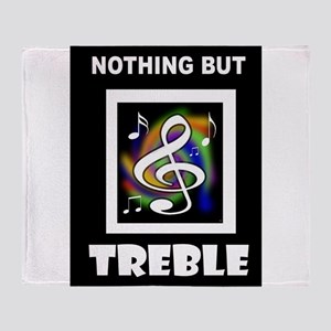 TREBLE TROUBLE Throw Blanket