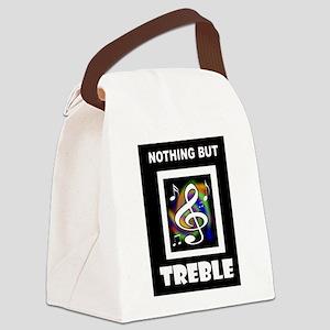 TREBLE TROUBLE Canvas Lunch Bag