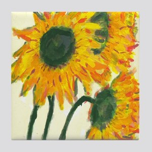 Sunflowers In Blue Vase Tile #2