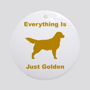 Just Golden Ornament (Round)