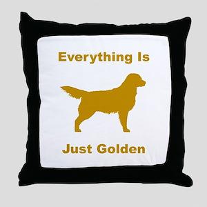 Just Golden Throw Pillow