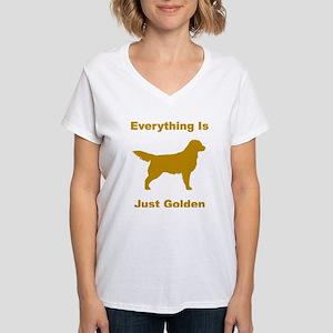Just Golden Women's V-Neck T-Shirt
