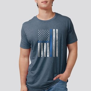 Respect Policemen Mens Tri-Blend Shirt T-Shirt