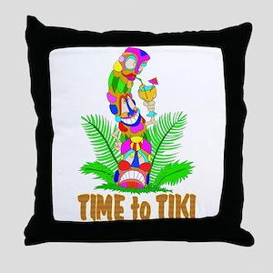 TIME to TIKI Throw Pillow