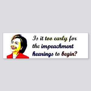 Impeach Hillary Bumper Sticker