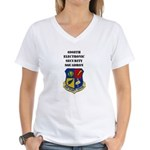 6908TH ELECTRONIC SECURITY SERVICE Women's V-Neck