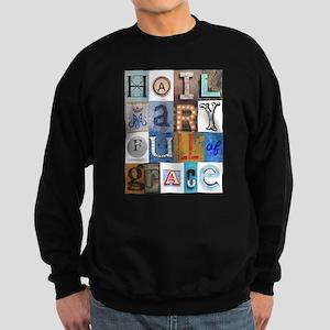 Hail Mary Full of Grace Letters Hoodie Sweatshirt