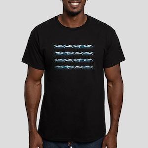 Swimming Men's Fitted T-Shirt (dark)